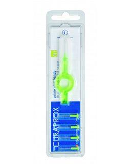 Curaprox CPS 11 Набор 5 ершиков с держателем, зеленого цвета, 5 шт.