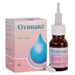 Отипакс, 10 мг+40 мг, капли ушные, 16 г, 1 шт.
