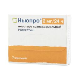 Ньюпро, 2 мг/сут, пластырь трансдермальный, 7 шт.