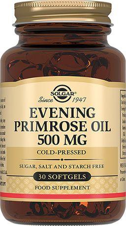 Solgar Масло примулы вечерней 500 мг, капсулы, 60 шт.