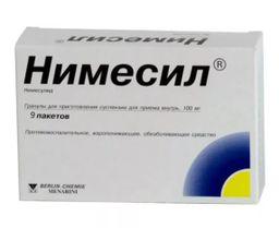 Нимесил, 100 мг, гранулы для приготовления суспензии для приема внутрь, 2 г, 9 шт.