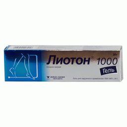 Лиотон 1000, 1000 ЕД/г, гель для наружного применения, 30 г, 1 шт.