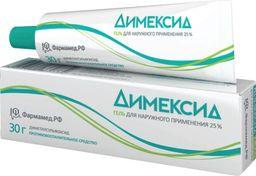 Димексид, 25%, гель для наружного применения, 30 г, 1 шт.