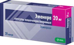 Эманера, 20 мг, капсулы кишечнорастворимые, 28 шт.