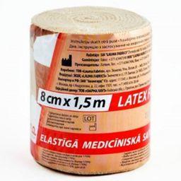Бинт эластичный медицинский, 1,5мх8см, высокой растяжимости, 1 шт.