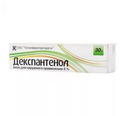 Декспантенол, 5%, мазь для наружного применения, 30 г, 1 шт.