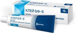 Клей БФ-6, раствор для наружного применения спиртовой, 15 г, 1 шт.