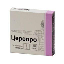 Церепро, 250 мг/мл, раствор для внутривенного и внутримышечного введения, 4 мл, 3 шт.