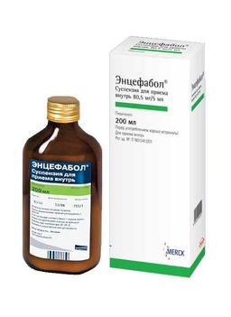 Энцефабол, 80.5 мг/5 мл, суспензия для приема внутрь, 200 мл, 1 шт.